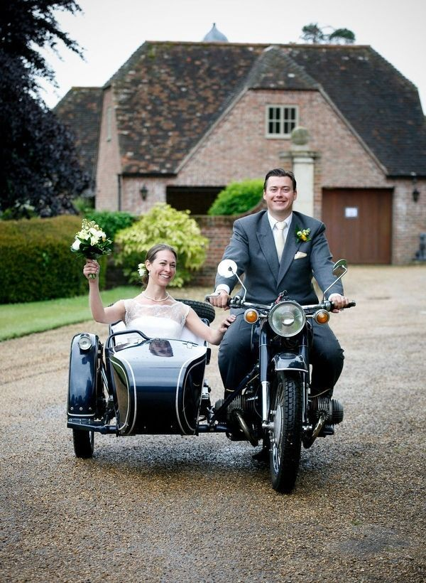Alternative Wedding Transport Ideas Vintage Motorbike And Sidecar Weddingtransport Vintagewedding