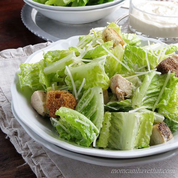 Grilled Chicken Caesar Salad with a lemony dressing is a great Summer meal at 3 net carbs!  Low Carb, Gluten-free, Keto   lowcarbmaven.com