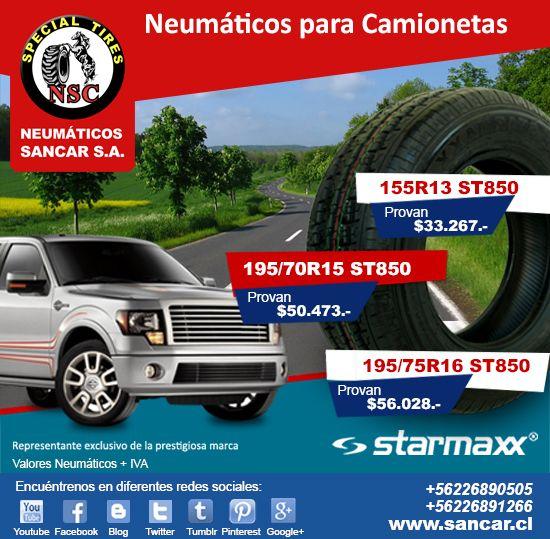 Líderes en Neumáticos para Camionetas mucho más conozca nuestros productos en www.sancar.cl Modelo Provan