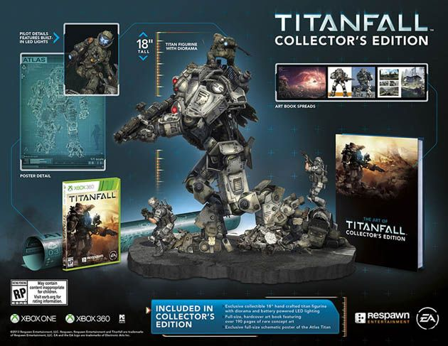 Titanfall collector's edition is titan-sized, sadly doesn't include jump jets (video) - http://www.aivanet.com/2014/02/titanfall-collectors-edition-is-titan-sized-sadly-doesnt-include-jump-jets-video/