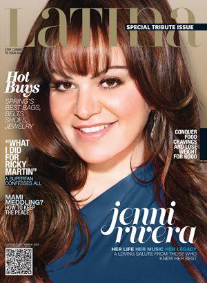The Late Jenni Rivera Covers Latina Magazine March 2013. She also earned 11 Latin Billboard award nods today!