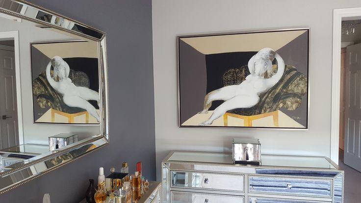 Artwork by Victor Tkachenko in client's home