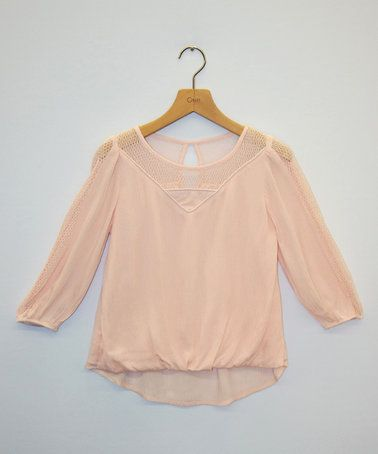 Love this Light Pink Long-Sleeve Top - Girls by My Michelle on #zulily! #zulilyfinds