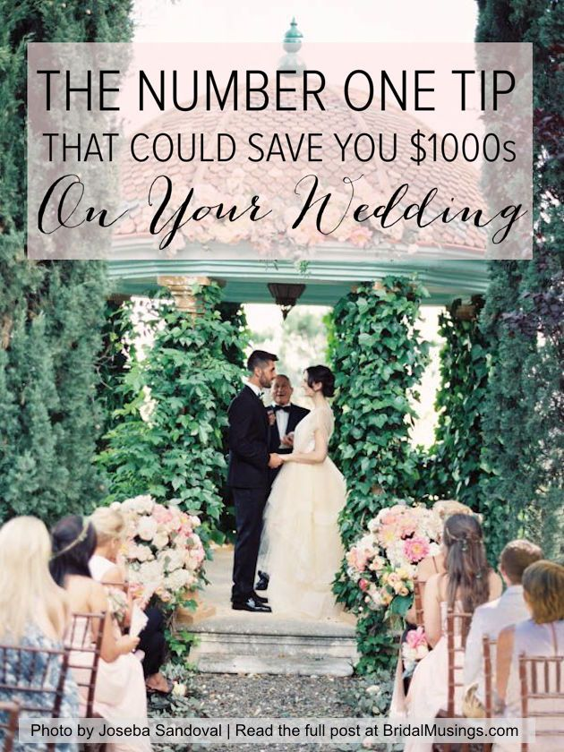 The Number One Tip That Can Save You 1000s On Your Wedding