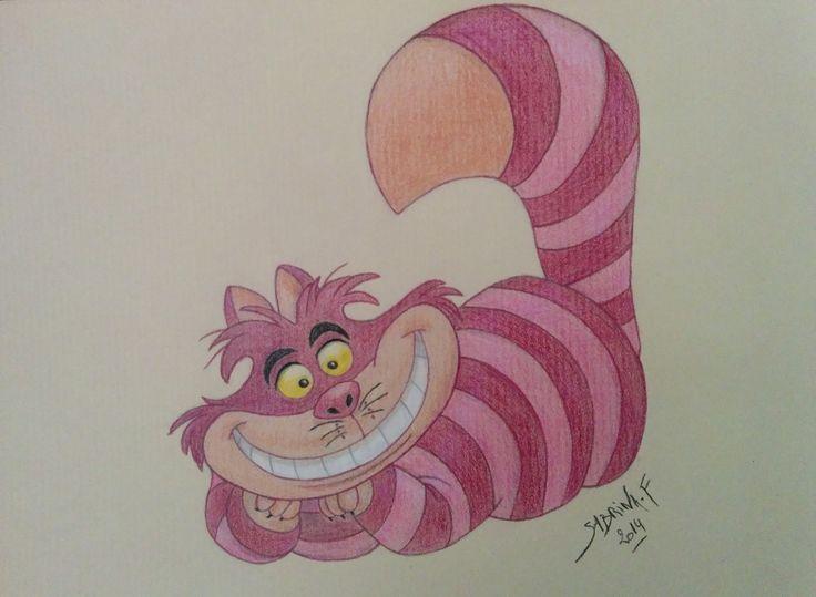 Chat de cheshire alice au pays des merveilles dessin disney drawing sabrina f dessins - Tatouage chat alice au pays des merveilles ...
