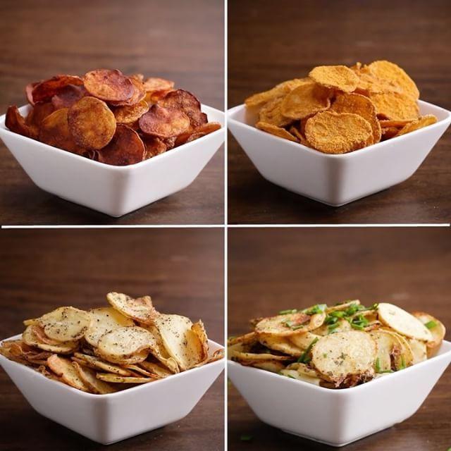 ヘルシー!オーブンで作る4種のポテトチップス💡  作ったら #tastyjapan をつけて投稿してね!  #料理好きな人と繋がりたい #料理 #料理大好き #料理動画 #お料理動画 #りょうり #クッキングラム #ポテトチップス #ポテチ #4way #レシピ動画 #かんたんレシピ #簡単レシピ #オーブンで #4種類 #じゃがいも #ジャガイモ #バーベキュー味 #チーズ味 #ソルト #ビネガー #クールランチ味