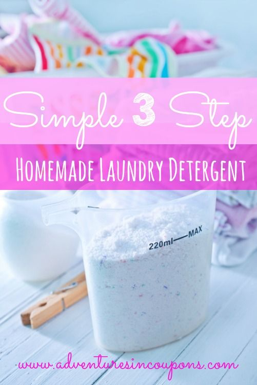 Simple 3 Step Homemade Laundry Detergent – Easy to Make