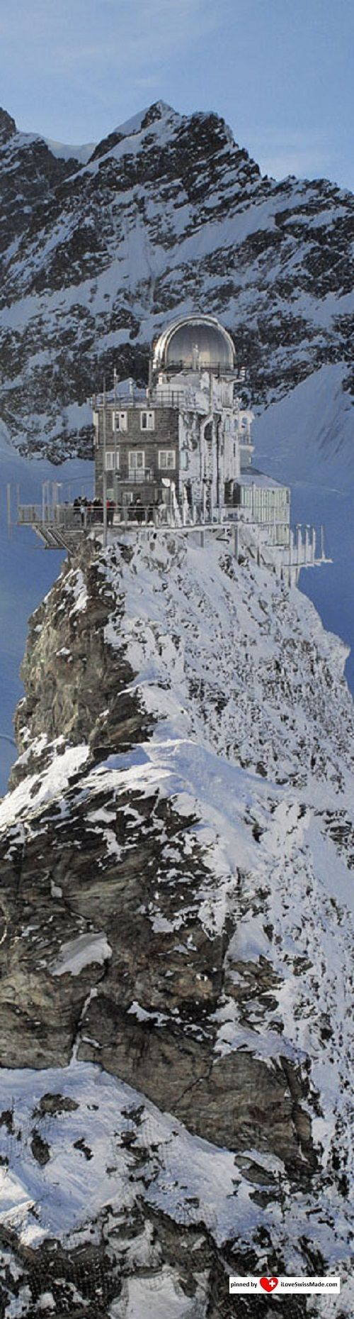 Jungfraujoch Top of Europe. Photo Jungfrau.ch, adapted to Pinterest by iLoveSwissMade.com