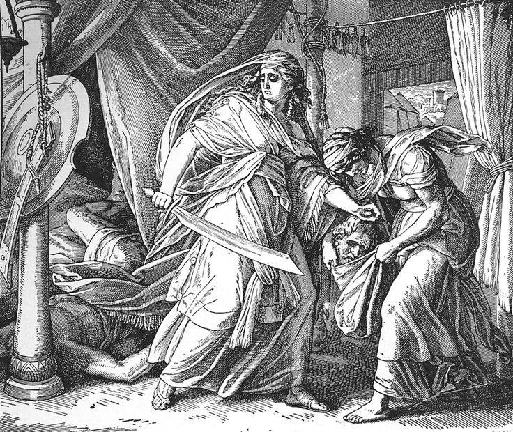Bilder der Bibel – Judith köpft den Holofernes – Julius Schnorr von Carolsf …   – women&weapon