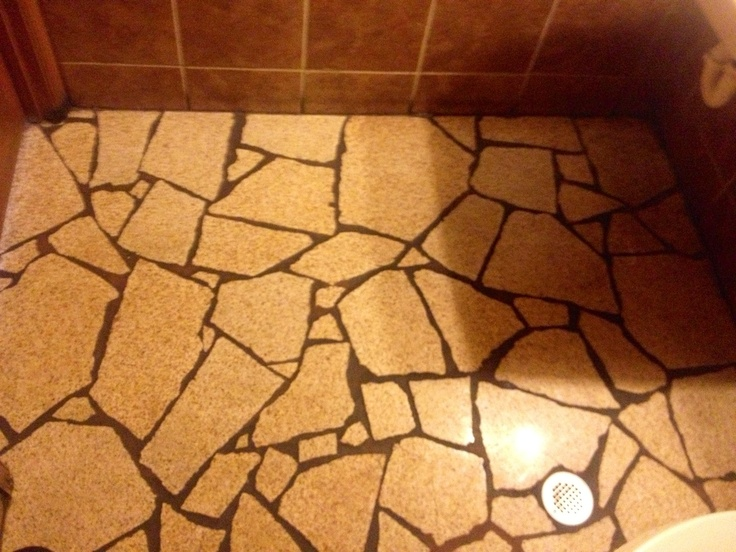 Example Of Broken Granite Pieces Used To Tile Floor This