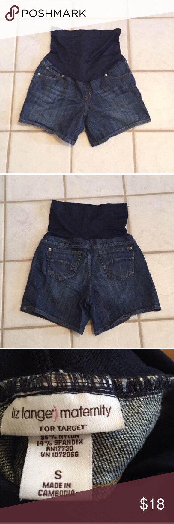 """❣BOGO 1/2 off❣🆕 Liz Lange maternity jean shorts NWOT, flawless. Stretchy. Small. Approx 5"""" inseam. ❤Please check out my other maternity listings & bundle to save! ❣Ask me how to BOGO HALF price! ✖️I do NOT MODEL✖️ 🔴Bundle to save! 🔴NO TRADES. 🔴REASONABLE offers welcome via offer button. Smoke free home. Fast shipping! Liz Lange for Target Shorts Jean Shorts"""