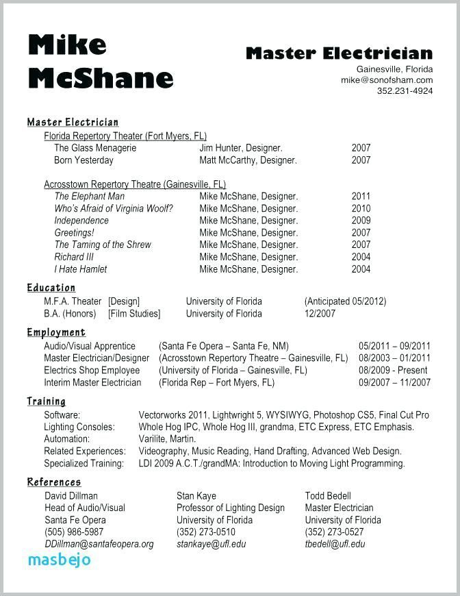 Electrician Resume Example Electrician Resume Exampleelectrician