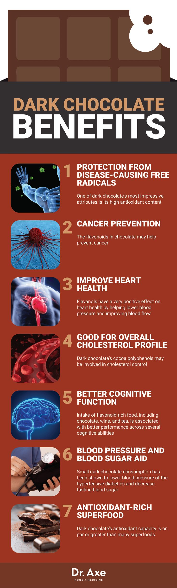 Benefits of dark chocolate - Dr. Axe http://www.draxe.com #health #holistic #natural
