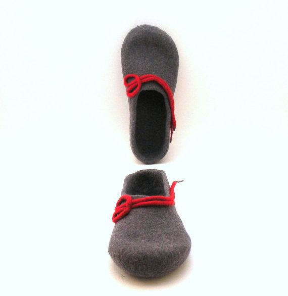 Felted wool slippers for women   handmade wool clogs  by AgnesFelt, $65.00
