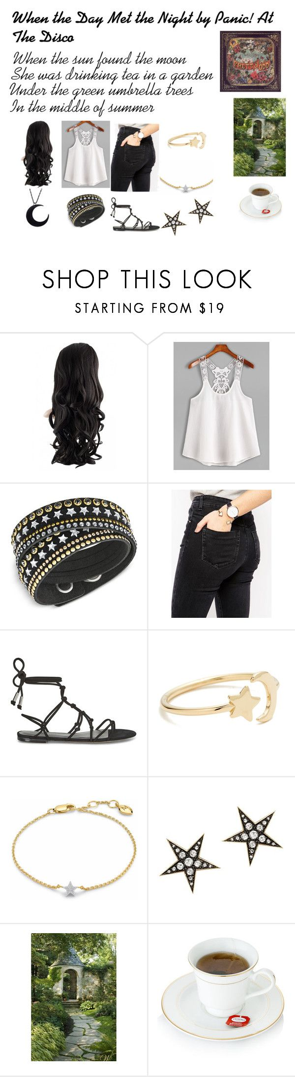 """When the Day Met the Night by Panic! At The Disco Outfit"" by pop-punk-fangirl ❤ liked on Polyvore featuring Swarovski, ASOS, Rebecca Minkoff, Ariel Gordon, London Road and Ødd."
