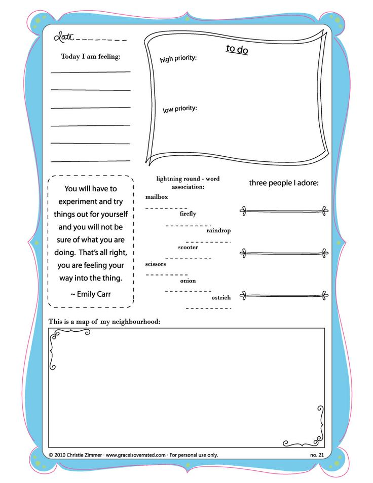 53 best Journal Pages (linked) images on Pinterest Caro diario - journal template for word