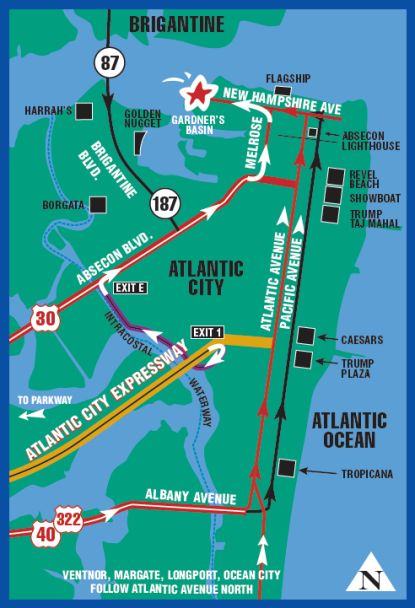 Atlantic City New Jersy Map
