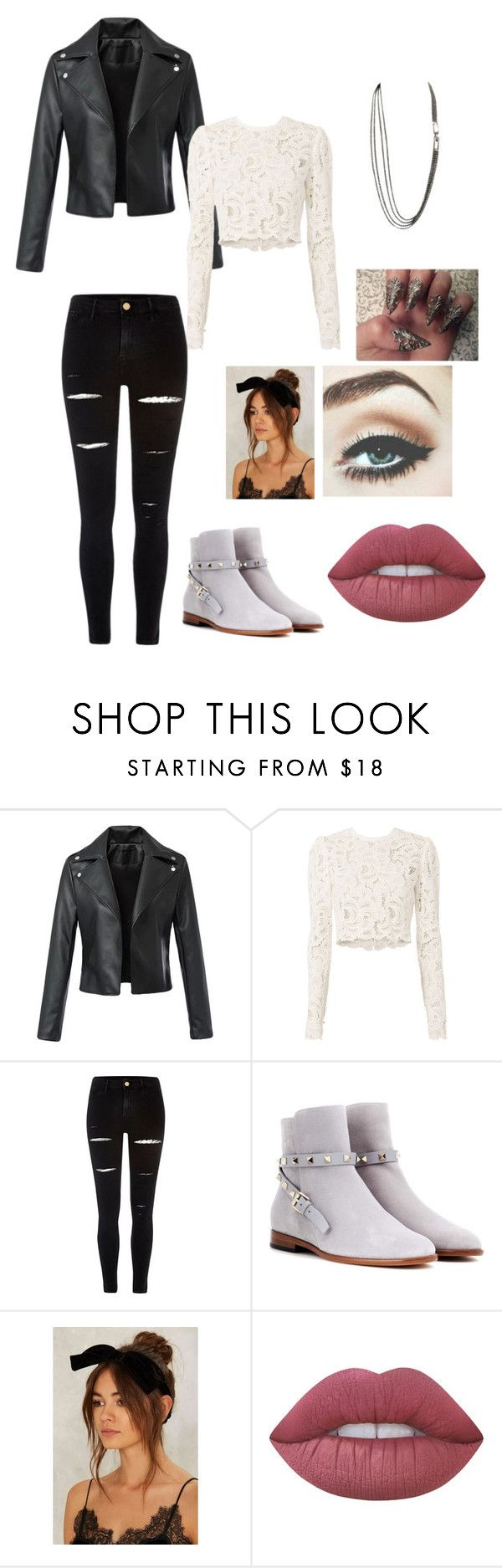 """Untitled #27"" by moriartylauren on Polyvore featuring A.L.C., River Island, Valentino, Lime Crime and Salvatore Ferragamo"