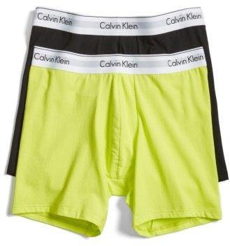 Calvin Klein Men's Modern Assorted 2-Pack Stretch Cotton Boxer Briefs