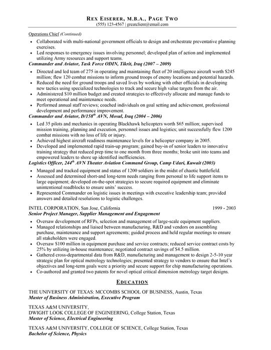 Resume Samples Best Writing Services Hire Writer Civilian Military  Experience Examples