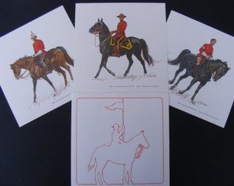 Mounted Police prints, Historical illustrations by artist Tom McNeely, RCMP…