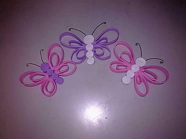 Como hacer mariposas de gomaeva - Imagui