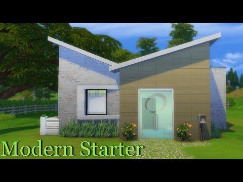 The Sims 4 Speed build: Modern Starter - YouTube