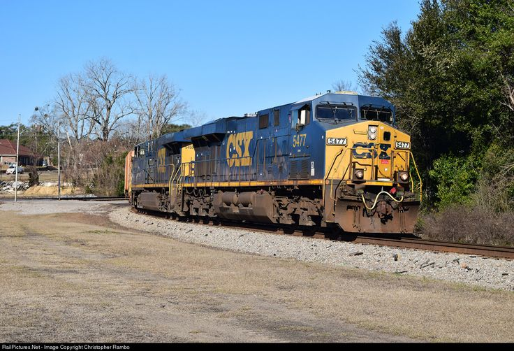 RailPictures.Net Photo: CSXT 5477 CSX Transportation (CSXT) GE ES40DC at Hamlet, North Carolina by Christopher Rambo