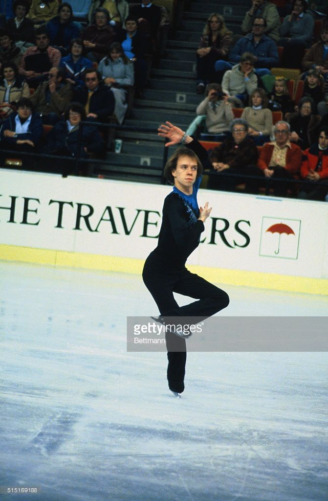 Victorious Scott Hamilton poses at the 1982 US Figure Skating Championships at Indianapolis, Indiana.
