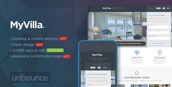 MyVilla - Real Estate Unbounce Template