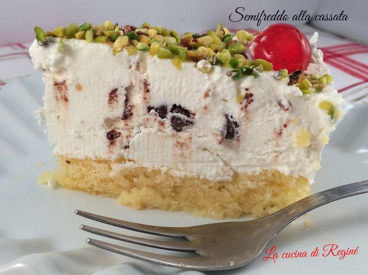 Semifreddo alla cassata è una rivisitazione della classica cassata siciliana. Una torta semifreddo buonissima da provare assolutamente. Ho sperimentato que