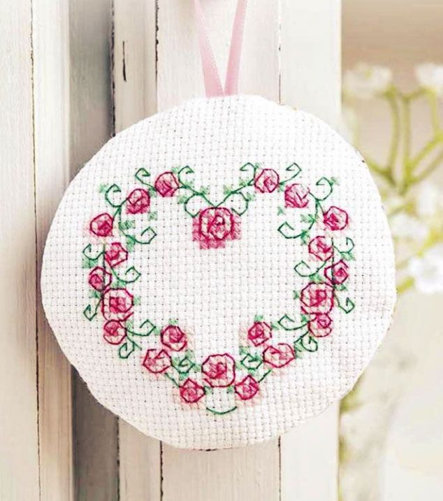 Heart of Roses - Available in The World of Cross Stitching 227