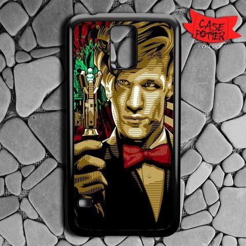 Doctor Who Matt Smith Samsung Galaxy S5 Black Case