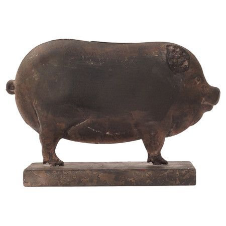 Bring Farmhouse Style Home With This Whimsical Pig Decor Showcasing A Weathered Finish For Rustic Eal Product Decorconstruction Material Metalcolor