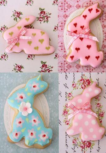 Beautiful bunny cookies