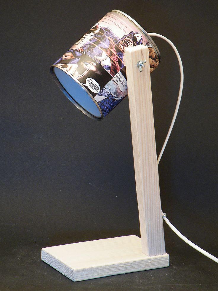 Lampe bois et boite de conserve - Modèle 1