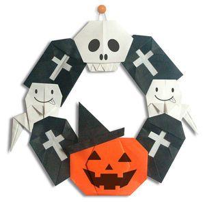 ハロウィンの折り方・作り方《折り紙》