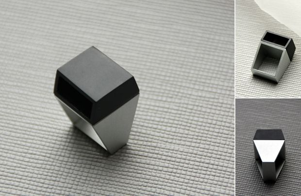 VIAN Ring-NEOLOGIC collection. Tomas Holub - Minimalist jewelry made of anodized and polished aluminum.  Enjoy your own piece of aluminum!