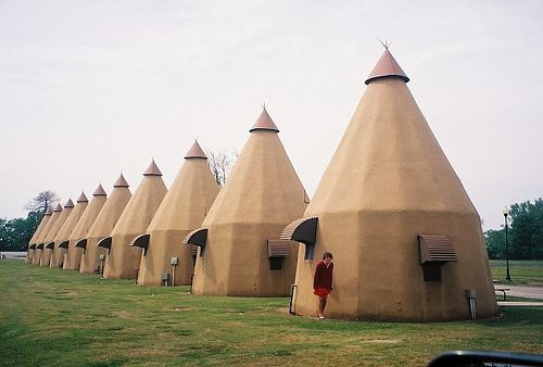 The TeePee Hotel in Wharton Texas -- very close to us at Brooks Branch!   Gotta love Texas!  They look fun!
