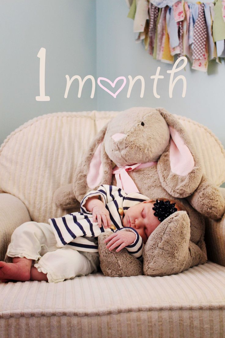 Monthly Baby Photos- 1 Month Old!