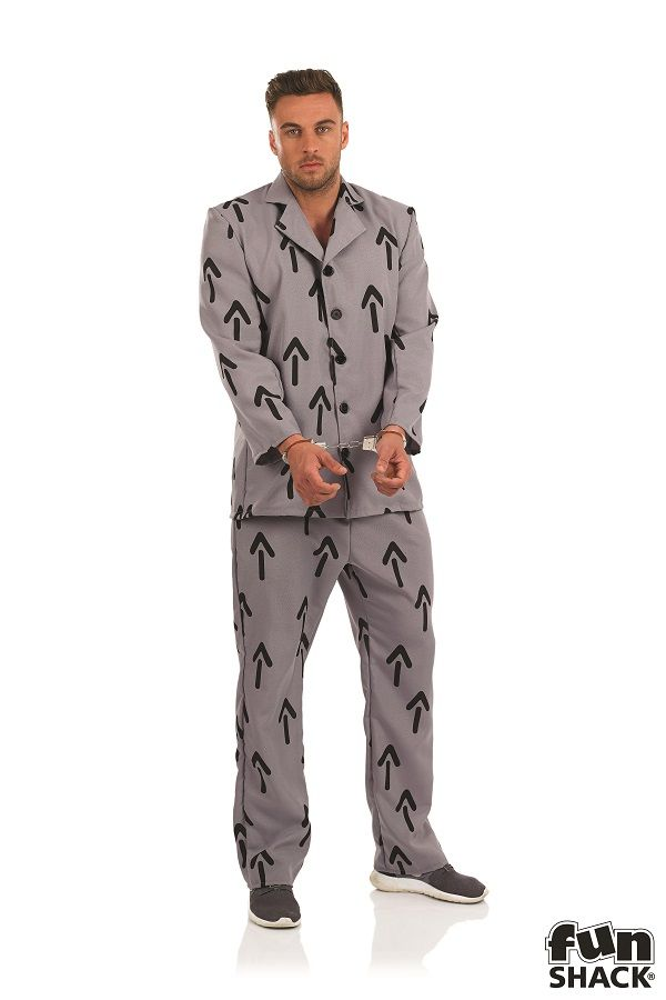 Arrow Prisoner Fancy Dress Costume Fun Shack