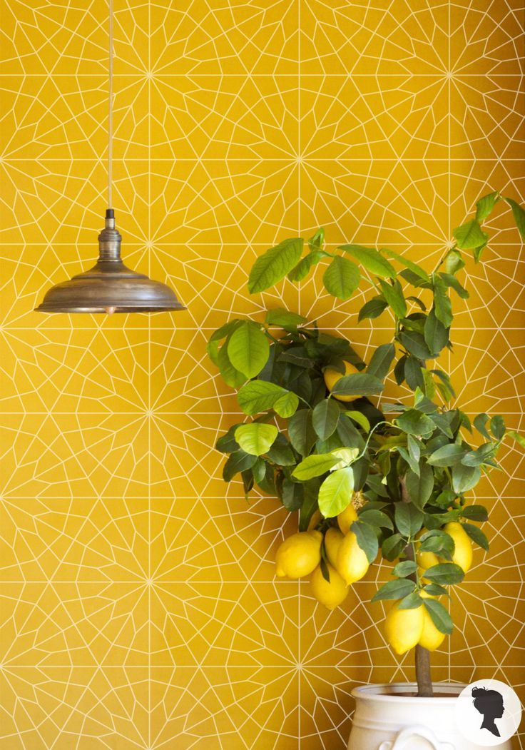 Geometric Flower Wallpaper / Self Adhesive or Traditional