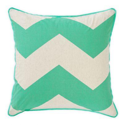 Chevron Grande Mint European pillowcase