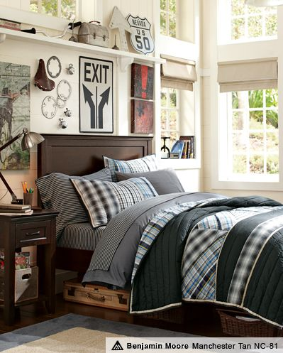 Boys Room Decorating Ideas & Harrison Hampton Bedroom | PBteen