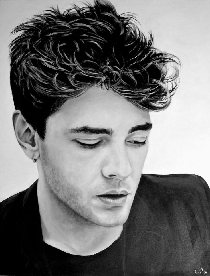 "Portrait - Xavier Dolan - ""AMBITION"" Acrylique sur toile galerie 30"" x 40""  Acrylic on canvas 30in. x 40in.  Artémo par / by Christine Bélanger www.artemo.ca"