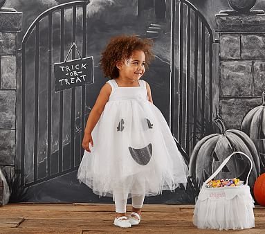 Toddler Ghost Tutu Light-Up Costume #pbkids