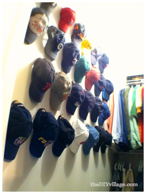 The DIY Village: Hat wall for walk-in closet