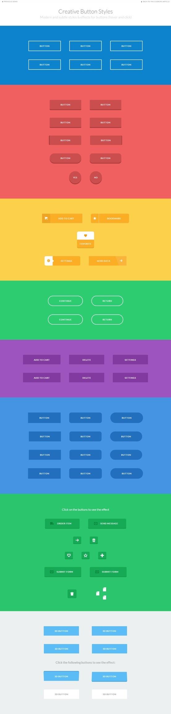 Gran colección de botones CSS3