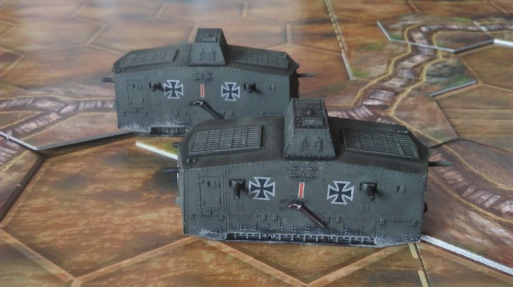 A7V Tanks From The Plastic Soldier Company