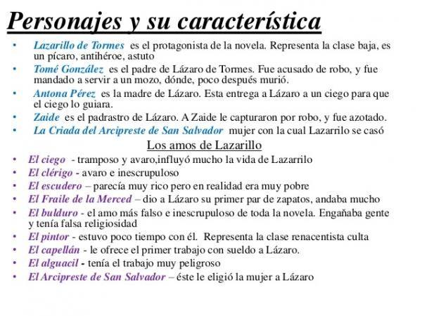 Los Personajes Del Lazarillo De Tormes Caracteristicas Y Resumen Lazarillo De Tormes Literatura Ap Literatura